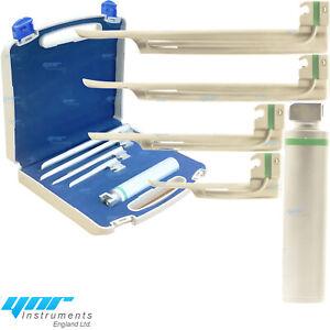 YNR Miller Laringoscopio Fibra Óptica 4 Hojas Diagnóstico Médico Convencional