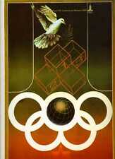 Vintage 1980 Moscow summer Olympic GAMES Art Series Poster PRIMITIVE  signed