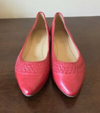 Franco Yeung For Chocolat Bar Volare Red Leather Ballet Flats ~ Women's 8.5 EUC
