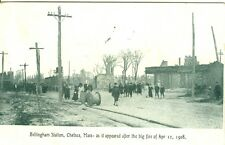 Chelsea, MA In the street at Bellingham Station after Big Fire of Apr 12 1908