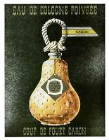 Publicité ancienne l'eau de Cologne poivrée Caron 1957 issue de magazine