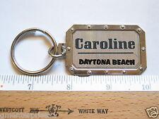 Daytona Beach Keychain Caroline Name Key Fob Key Chain  (Name #22)