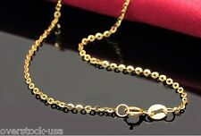 New 16.5inch 18K Yellow Gold Necklace 1.4mm Cable Chain / 1.65g