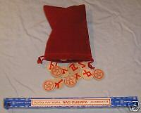 Basic Red Pentacle RUNES set ---WITH BONUS GIFT ---