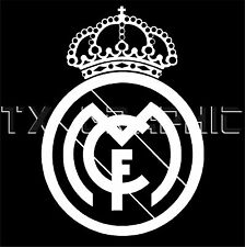 REAL MADRID STICKER FOTBOL FOOTBALL SOCCER SPANISH LA LIGA PRIMERA VINYL DECAL