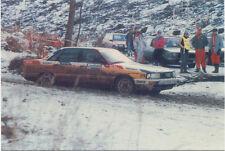 Audi 200 Quattro Lombard RAC Rally Nov 1988, postcard issued 1989