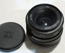 Helios 44M  2/58 Russian lens & front cap M42 mount SLR Zenit camera  2391