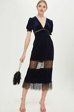 *NEW* Topshop Velvet Lace Midi Dress size 10,  Wedding, Prom, Party