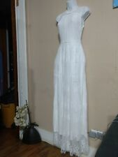 Women's Size Small New NWT White Lace Wedding Dress Vintage Style Maxi ModCloth