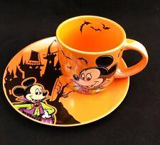 Disney Parks Halloween Vampire Mickey Boo To You Mug And Dessert Plate SET - NEW