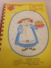 Kinder Korral Cookbook Spiral Softcover Cook book Wisconsin Trempealeau