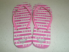 Women's/girl's pink and white Roxy thongs size US 5-6