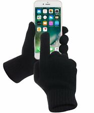 Gloves Touch Thermal Screen Winter Warm Driving mens Black finger-thumb women