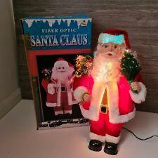 BOXED Vintage Fibre optic Father Christmas Santa Figure