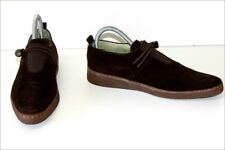 ONE MORNING SUMMER Derby shoes Suede Dark Brown Double Leather T 6 / 39 BE