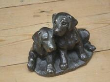 Heredities ? Labrador Puppies Bronzed Finish Resin Figure Home Decor Collectable