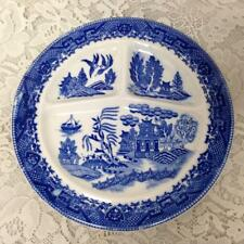 Vintage, Rare, Moriyama Made in Occupied Japan Blue Willow, 10.5in Grill Plate