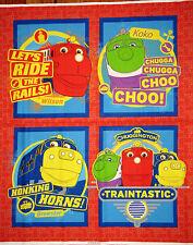Chuggington Train Brewster Wilson Koko Cotton Fabric Disney Chuggington PANEL