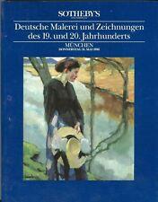 Sotheby's Auction Catalog 31 Mai 1990 - Duetsche Malerei und Zeichnungen