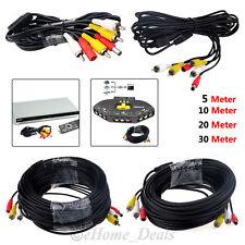 RCA AV AUDIO VIDEO CCTV SECURITY CAMERA DVR DC POWER CABLE PLUG 10M METRE