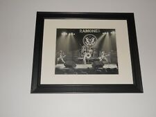 """Framed Ramones 1978 on Stage Nyc Punk Johnny, Joey, Tommy, Dee Dee 14""""x17"""""""