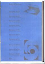 B & O Bang & Olufsen Service Manual für Beogram 3000-3300-3500 3500-4500 u. ff