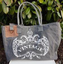 XXL Shopper *Vintage Tasche Leder*Schultertasche*Canvas***NEU***