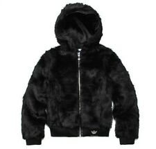New Adidas Women Faux Fur Hoodie Jacket Coat For Women For Autumn Winter O57918