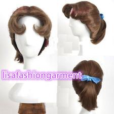 Disney Peter Pan Wendy Fringe Volume Brown Short Straight Cosplay Wigs/wig