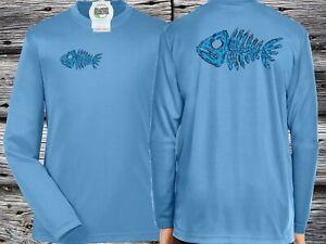 Boys Rash Guard Swim Shirt Long sleeve Performance Fishbone 50UPF Sun Shirt