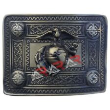 AAR Scottish Kilt Belt Buckle with US Marine Brass Antique Finish Highland