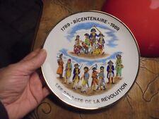 Ancienne assiette Uniformes LES SOLDATS DE LA REVOLUTION Bicentenaire 1789.1989