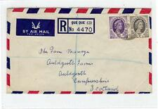 SOUTHERN RHODESIA: 1956 registered air mail cover to Scotland (C29310)