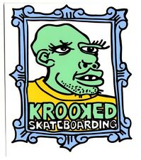 Krooked Framed Face Skateboard Sticker skate snow surf board bmx guitar van ipad