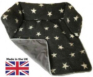 Sofa Protector Dog Bed, Soft Sherpa Fleece with Waterproof Base