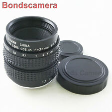 "35mm F/1.7 C mount 2/3"" CCTV lens body for Digital Camera Micro 4/3 Sony NEX FX"