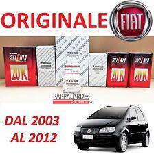 KIT TAGLIANDO FILTRI ORIGINALI +OLIO SELENIA 20K FIAT IDEA 1.2 BENZINA 59KW 80CV