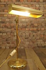 60s Tischlampe Vintage Schreibtischlampe Banker Leuchte Messing Kontorlampe 70er