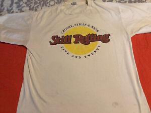 Crosby Stills & Nash XL White Short Sleeve T-Shirt Pre-Owned
