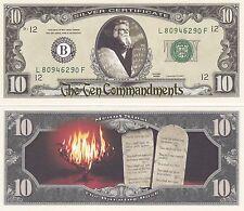 USA 10 US Dollar 'Ten Commandments' - Moses (C. Heston) - NEW UNCIRCULATED CRISP