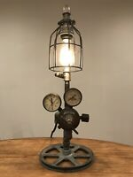 Steampunk Lamp Industrial Machine Age Steam Gauge Light Gear Boiler Welding