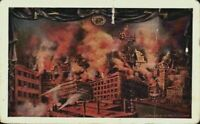 San Francisco Quake Fire Disaster 1905 Firemen California CA Vintage Postcard