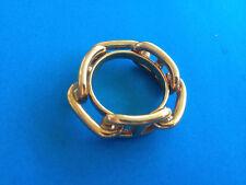Anneau de Foulard HERMES Chaine d'Ancre Dorée / Scarf Ring