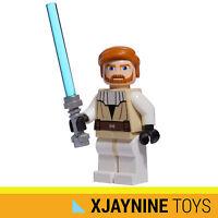 GENUINE LEGO STAR WARS Clone Jedi General Obi Wan Kenobi + Lightsaber NEW