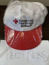 Brand New OFF-WHITE VIRGIL ABLOH American Red Cross Baseball Cap Red Rare