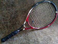 "Gamma Ipex 7.0 oversized nanotechnology tennis racket 4 1/2"" grip maroon & black"