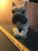 Vintage Flocked Boxer Dog Bobble Head Bobblehead Nodder Japan Paper-Mache 1960's