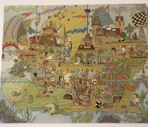 """Vintage Noah's Ark Jigsaw Puzzle #980 by Susan Sturgill 550+ Pieces 18"""" x 24"""""""