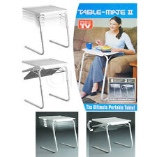 PORTABLE TABLE MATE ADJUSTABLE FOLDING TABLE MATE TRAVELLING DRAWING DINNER DESK