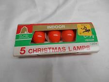 Old Vtg Hamos Co. ORANGE CHRISTMAS LAMPS Lights C-7 1/2 Indoor 120v Tested
